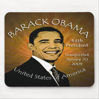 Barack Obama Inaugurtion Grunge Mousepad