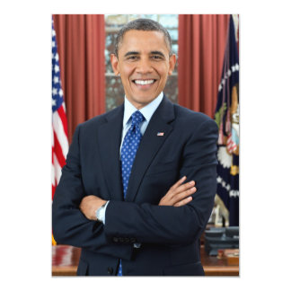 Barack Obama 5x7 Paper Invitation Card