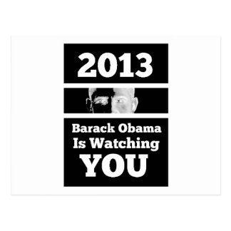 Barack Obama is Watching You Big Brother Parody Postcard