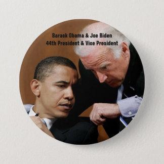 Barack Obama & Joe Biden 7.5 Cm Round Badge
