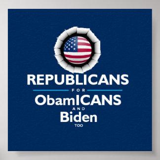Barack Obama Joe Biden ObamICANS Republican Poster