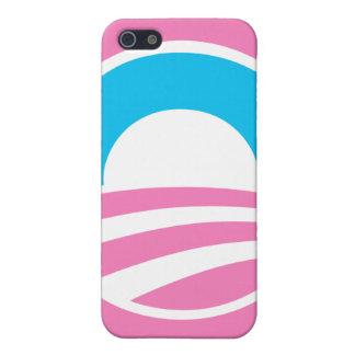 """Barack Obama Large """"O"""" Logo (Pink) iPhone Case iPhone 5 Cover"""