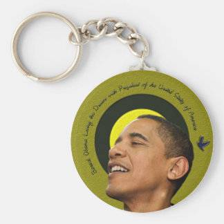 Barack Obama Living The Dream Key Chain
