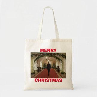 Barack Obama Merry Christmas - Budget Tote Bag