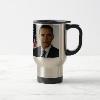 Barack Obama 15 Oz Stainless Steel Travel Mug