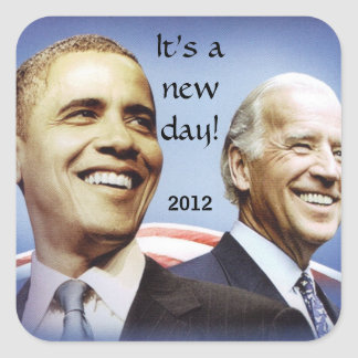 BARACK OBAMA, NEW DAY stickers
