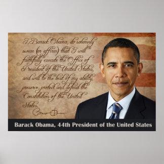 Barack Obama, Oath of Office Poster