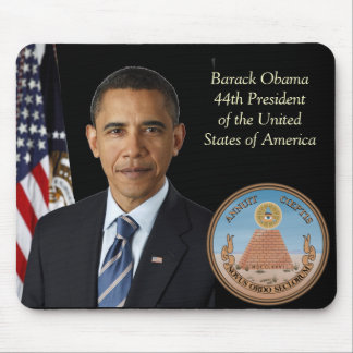 Barack Obama, Official Photo 44th US President Mouse Pad