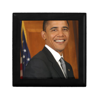 Barack Obama Official Portrait Small Square Gift Box