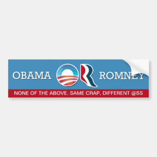 Barack Obama or Mitt Romney? Bumper Sticker