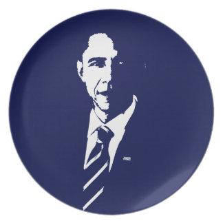 Barack Obama Outline Plate