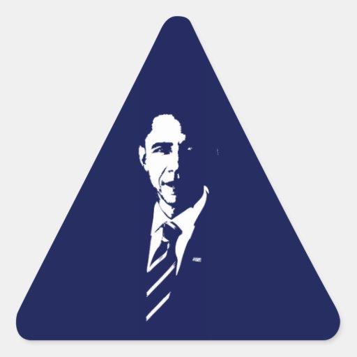 Barack Obama Outline Triangle Sticker