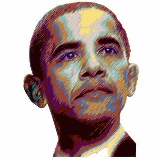 Barack Obama pastel portrait from Amazory Standing Photo Sculpture