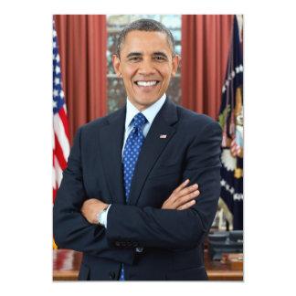 Barack Obama portrait 13 Cm X 18 Cm Invitation Card