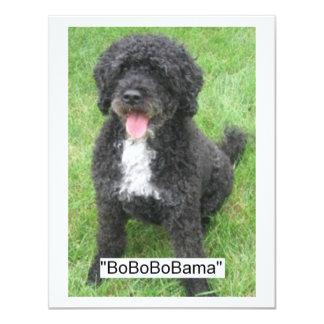 Barack Obama Portuguese Water Dog Card