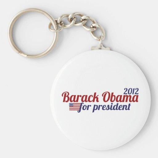 Barack Obama President 2012 Keychains