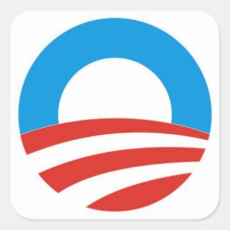 barack obama president usa logo elections 2012 square sticker