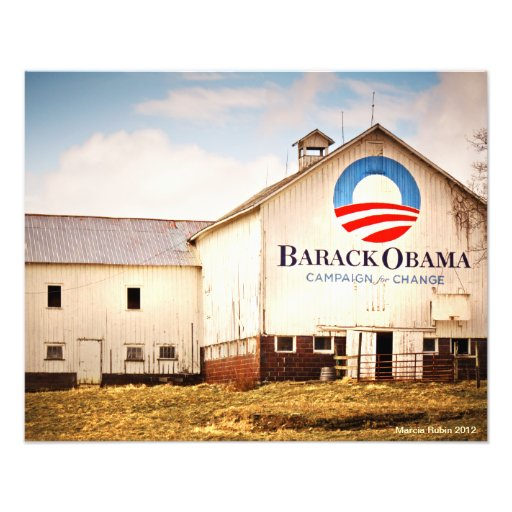 Barack Obama Presidential Campaign Barn Photo Art