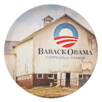 Barack Obama Presidential Campaign Barn Plates