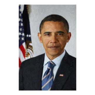Barack Obama Presidential Portrait Poster