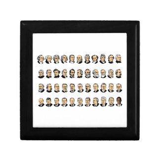 Barack Obama - Presidents Of The United States Small Square Gift Box