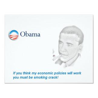 Barack Obama Protest 11 Cm X 14 Cm Invitation Card