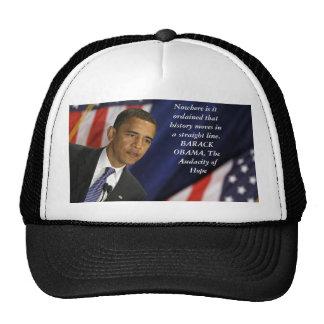 Barack Obama Quote on History Cap