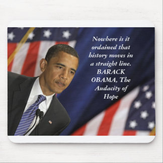 Barack Obama Quote on History Mouse Mats