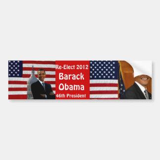 BARACK OBAMA-Re-Elect_ Bumper Sticker Bumper Stickers