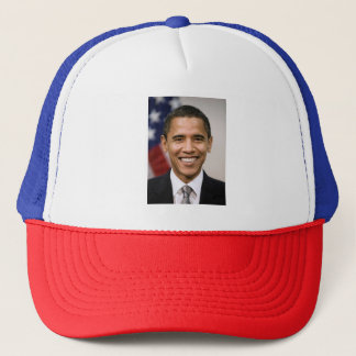 Barack Obama Red, White, and Blue Trucker Hat