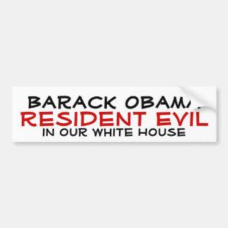Barack Obama, Resident Evil, in our White House Bumper Sticker