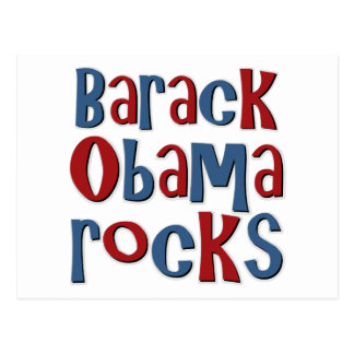 Barack Obama Rocks Tees and Gifts Postcard