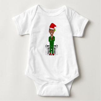barack obama santa claus baby bodysuit
