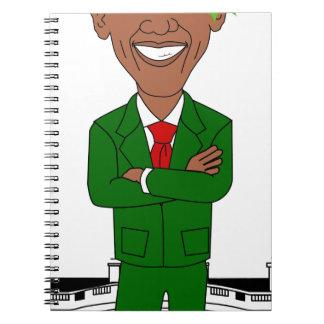 barack obama santa claus spiral notebook