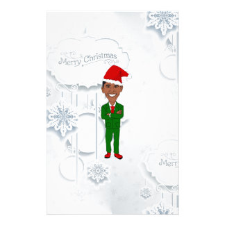 barack obama santa stationery