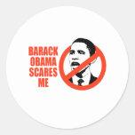 BARACK OBAMA SCARES ME / ANTI-OBAMA T-SHIRT STICKER