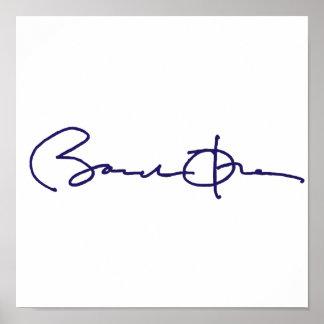 Barack Obama Signature Print