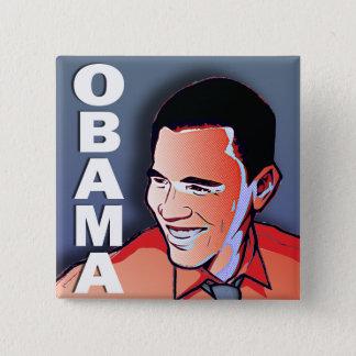 Barack Obama Silver 15 Cm Square Badge