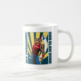 Barack Obama Slam Dunk Basic White Mug