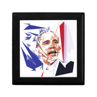 Barack Obama Small Square Gift Box