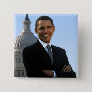 Barack Obama - Square Pin