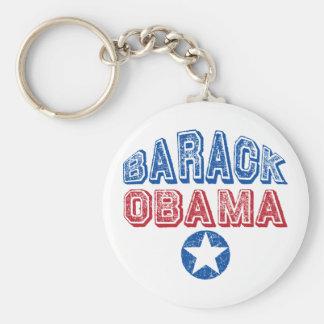 Barack Obama Star Basic Round Button Key Ring