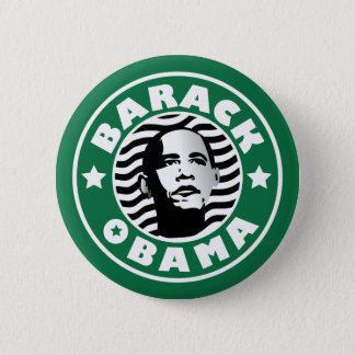 Barack Obama Star Caffeine 6 Cm Round Badge