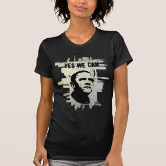 Barack Obama. Stencil background concrete T-Shirt