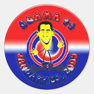 Barack Obama Round Stickers