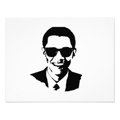 Barack Obama Sunglasses Custom Invites