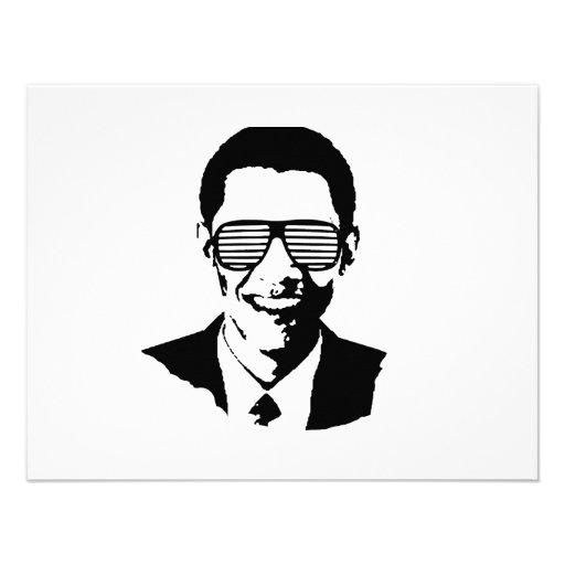 Barack Obama Sunglasses Stripes Invitations