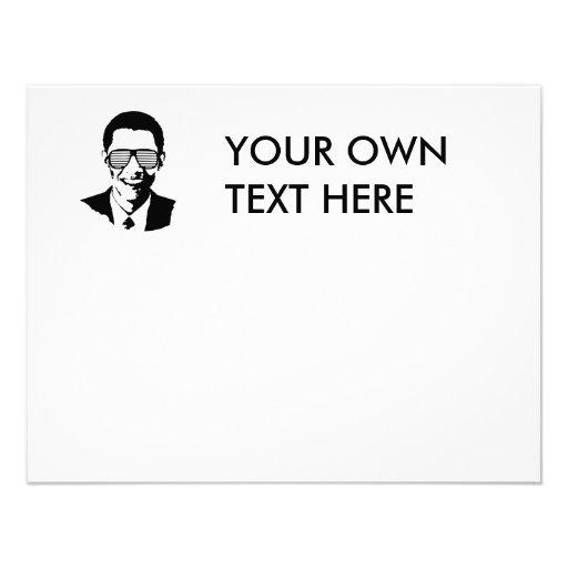 Barack Obama Sunglasses Stripes Invitation