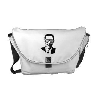BARACK OBAMA SUNGLASSES STRIPES -.png Courier Bag