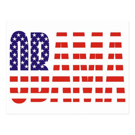 Barack Obama Support USA Flag Tees Gifts Post Card